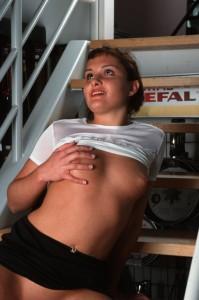 nackte Brust beim Chat Sex